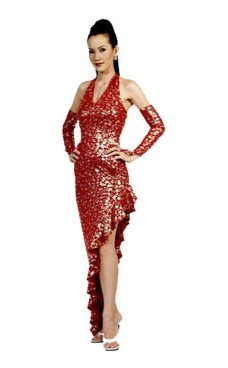 Stylish Red Salsa Dress Long Dresses