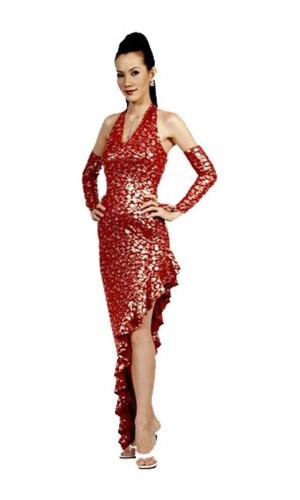 Stylish Red Salsa Dress Long Dresses