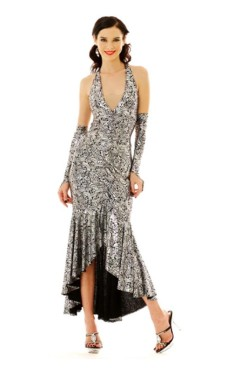 Stylish Silver Salsa Dress Long Dresses