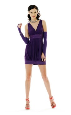 Trendy Purple Dress Short Dresses