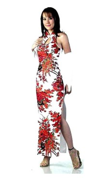 Trendy White Cheongsam Asian Dresses