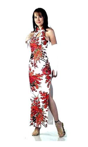 Trendy White Cheongsam Asian Dresses