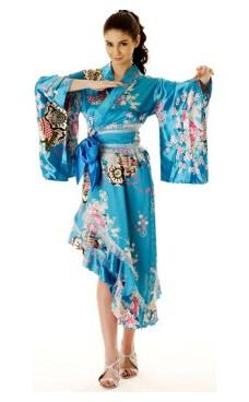 Turquoise Yukata Dress Kimono Dresses