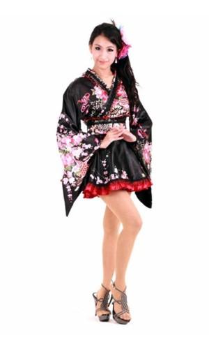 Two Toned Japanese Kimono Kimono Dresses