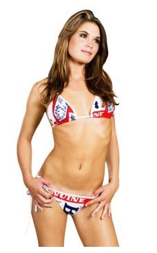 White Budweiser Bikini Bikini Sets