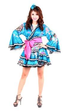 Yukata Mini Dress Kimono Dresses
